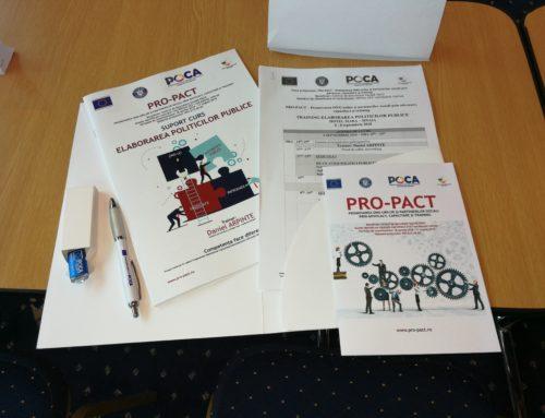 PROCES – VERBAL SELECȚIE EXPERȚI PRO-PACT – Promovarea ONG-urilor și partenerilor sociali prin advocacy, capacitare și training