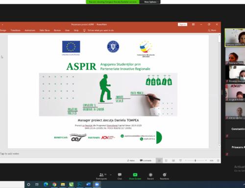 Comunicat de presă: Noi oportunități de (re)inserție pe piața muncii pentru absolvenți prin intermediului proiectului ASPIR
