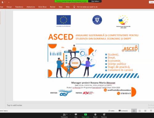 Comunicat de Presă: A fost lansat ASCED. Un proiect inovativ de inserție a absolvenților pe piața muncii.