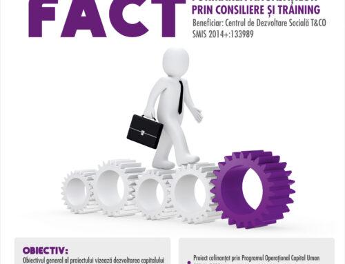 A fost lansat proiectul FACT. 652 de angajați din regiunea Nord Est își vor îmbunătăți statutul pe piața muncii